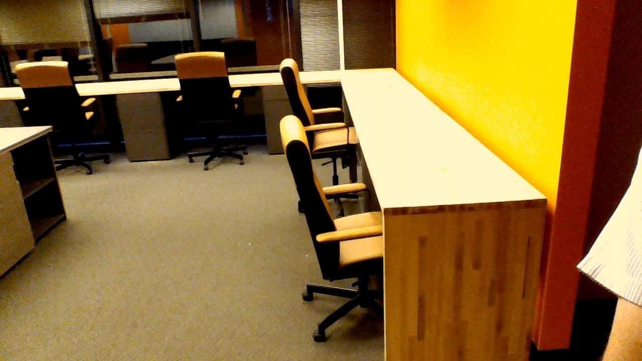 We Rebuilt These Panels To Make The Space More Functional For Our Client.  Office Furniture Shown Is Thru Zuri Furniture Inc. Of Dallas, Texas.